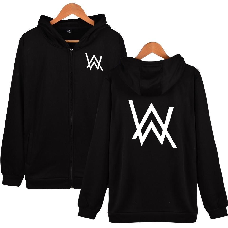 Alan Walker Fleece Sweatshirts DJ Music Alan Walker Zip Hoodies   Shopee Malaysia