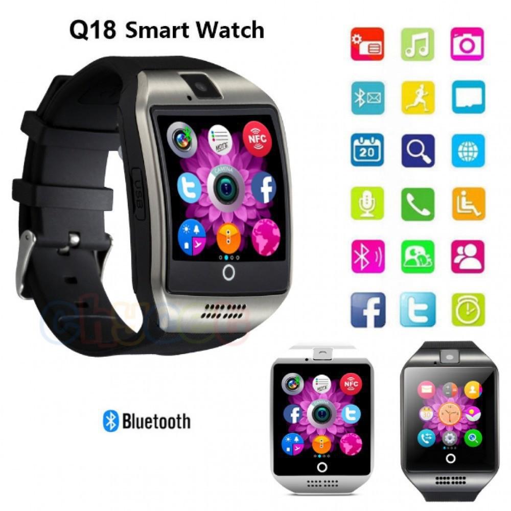 Bluetooth Smart Watch Q18 Smartwatch Support SIM Card Camera SMS Call