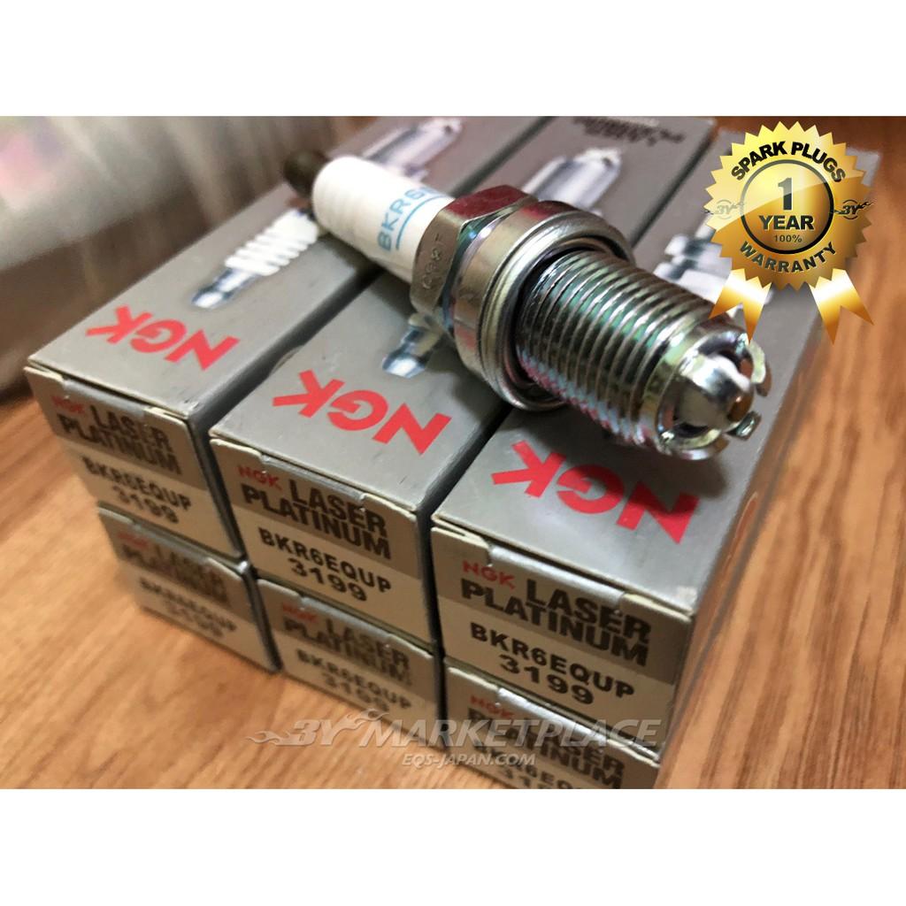 """NGK 6PCS Spark Plugs Double Laser Platinum 4/""""FGR-7-DQP 4417 12120037607 fit BMW"""