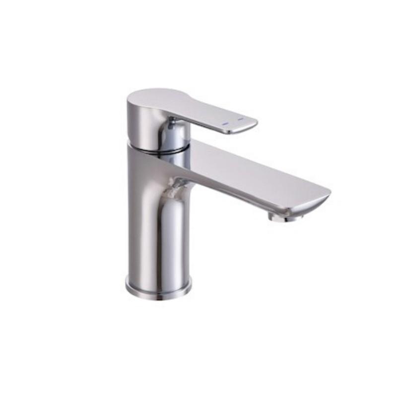 Johnson Suisse Trento Single Lever Basin Pillar Tap Deck Mounted Chrome Faucet for Bathroom Kitchen Basin