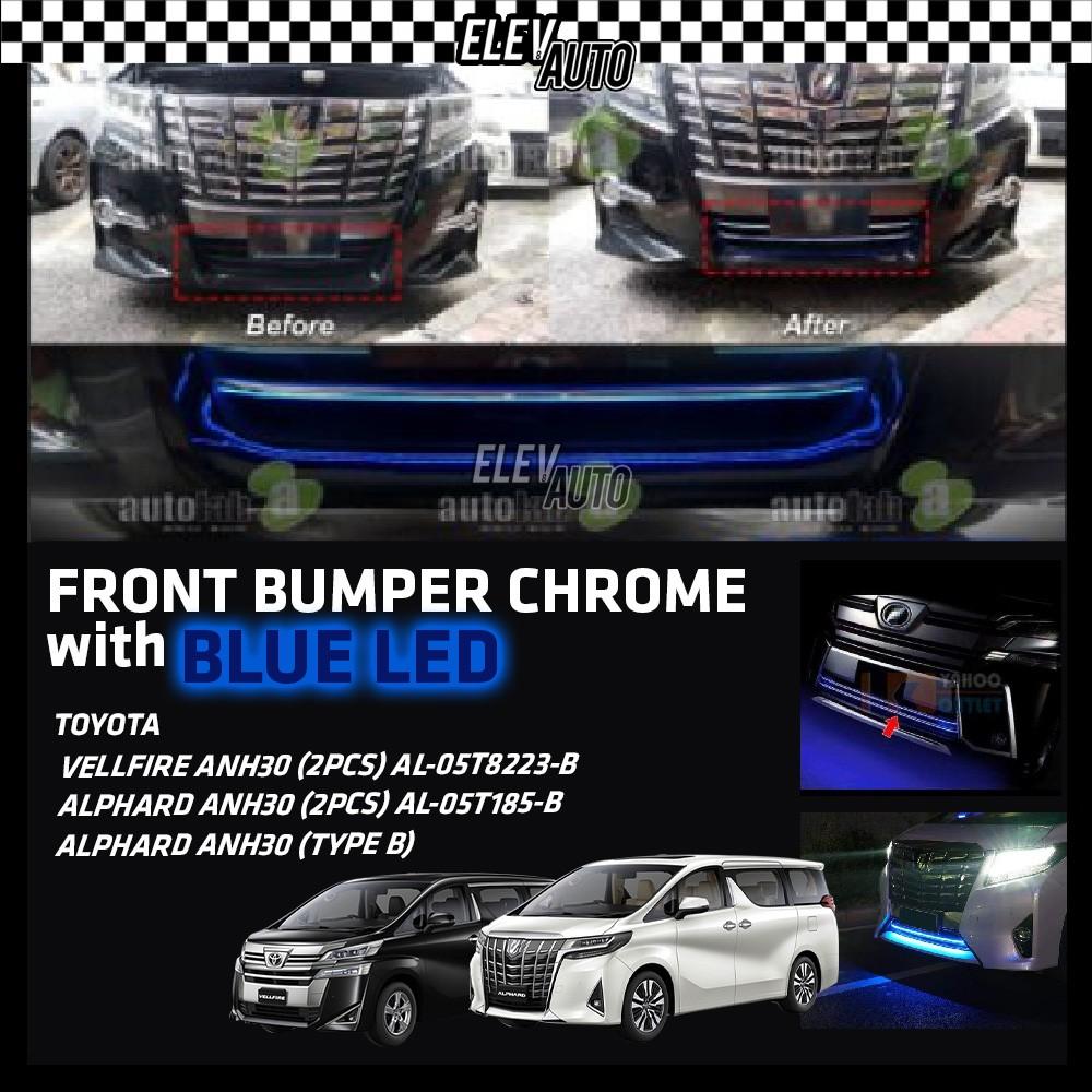 Toyota Alphard / Vellfire ANH30 2016-2021 Front Bumper Chrome With LED Blue Light
