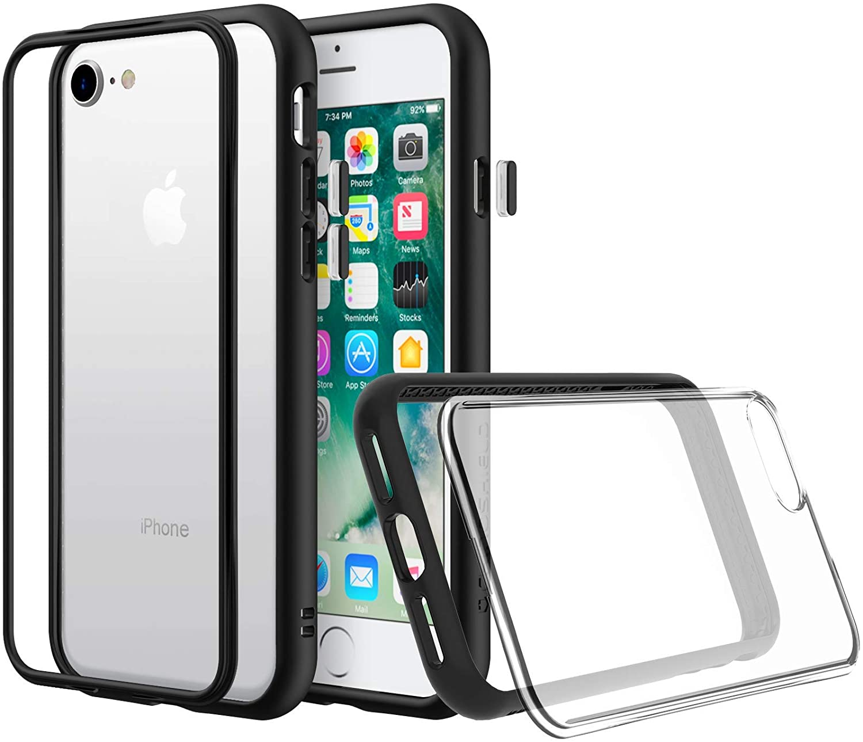Original RhinoShield Mod NX iPhone SE / 8 / 7 / Plus Customizable Shock Absorbent Shockproof Bumper with Clear Back