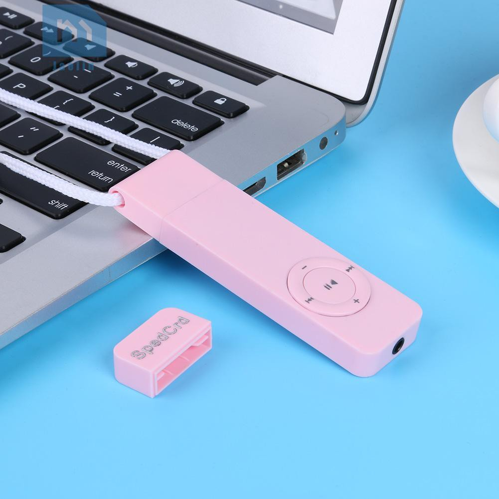 Jae^♧MP3 Player Strip Sport Lossless Sound Support 64GB TF Card Media Players Accessories❦