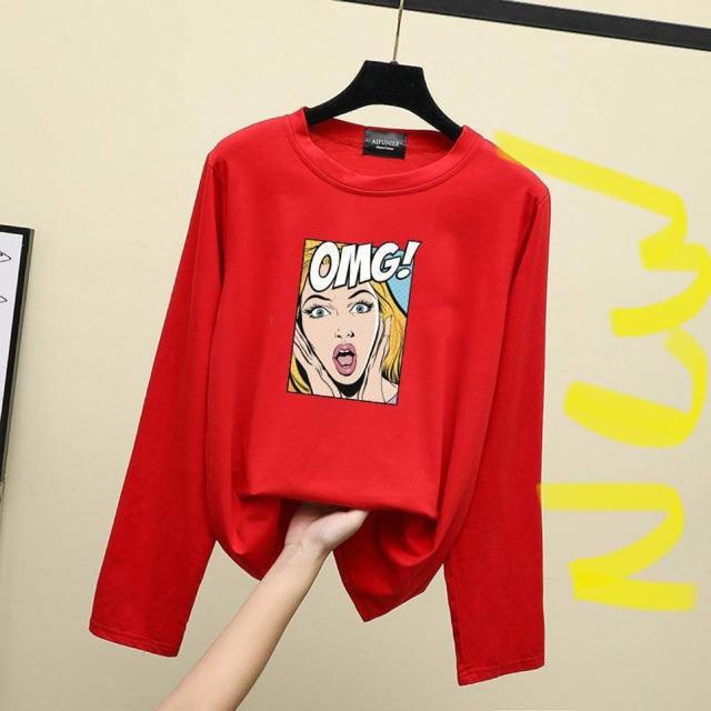 -Malaysia store- OMG TRIPLE AAA Long sleeve round neck fashion long shelve