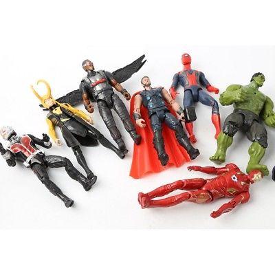 20Pcs Avengers Infinity War Thanos SuperHero Action Figures Kids Toy EndGame