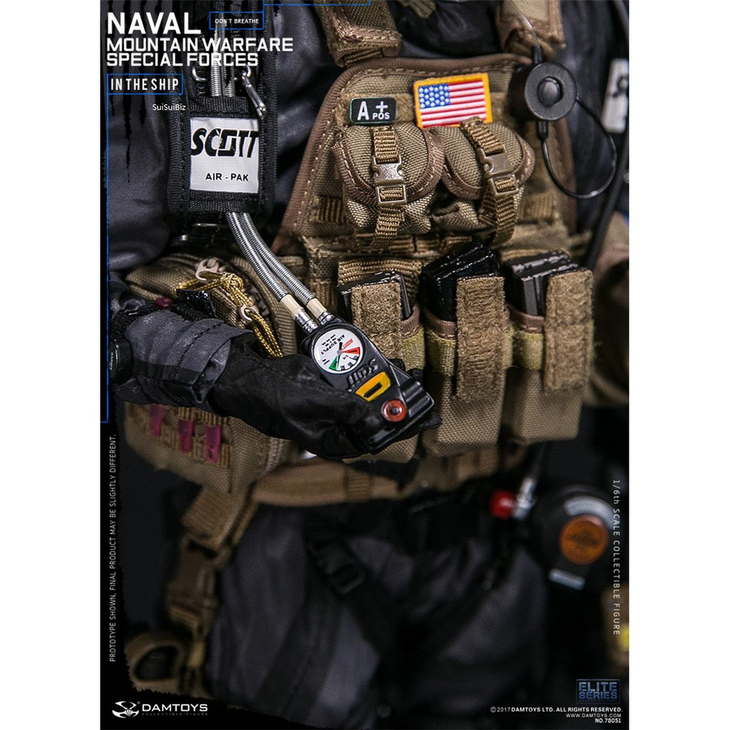 """DAMTOYS 78051 1//6 Naval Mountain Warfare Special Forces 12/"""" Action Figure Body"""