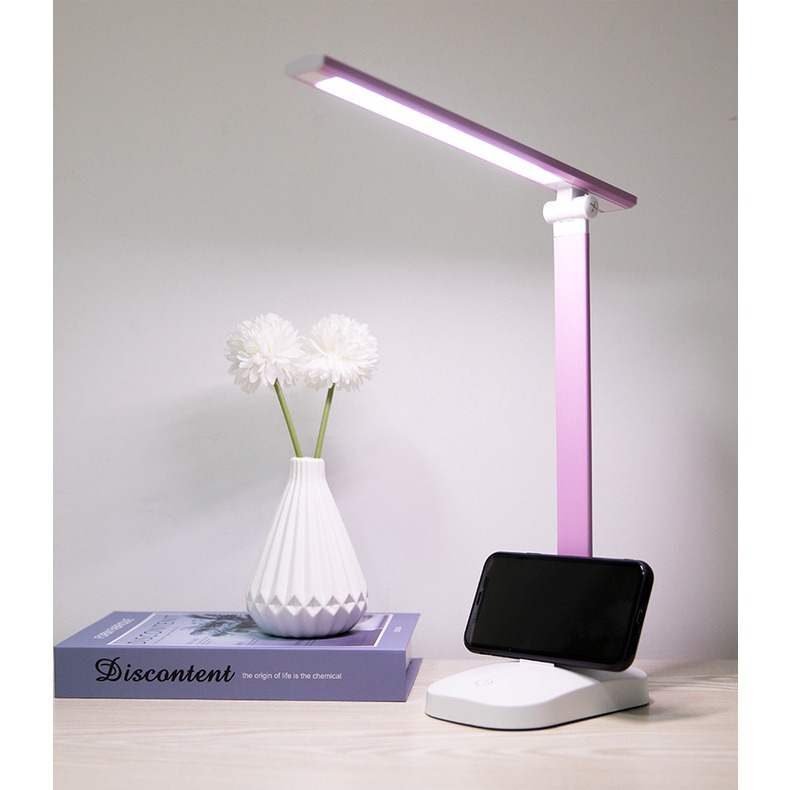 GDeal Foldable Study Lamp Bedroom Light LED Dormitory Lamp Table Light Small Night Bedside Lamp