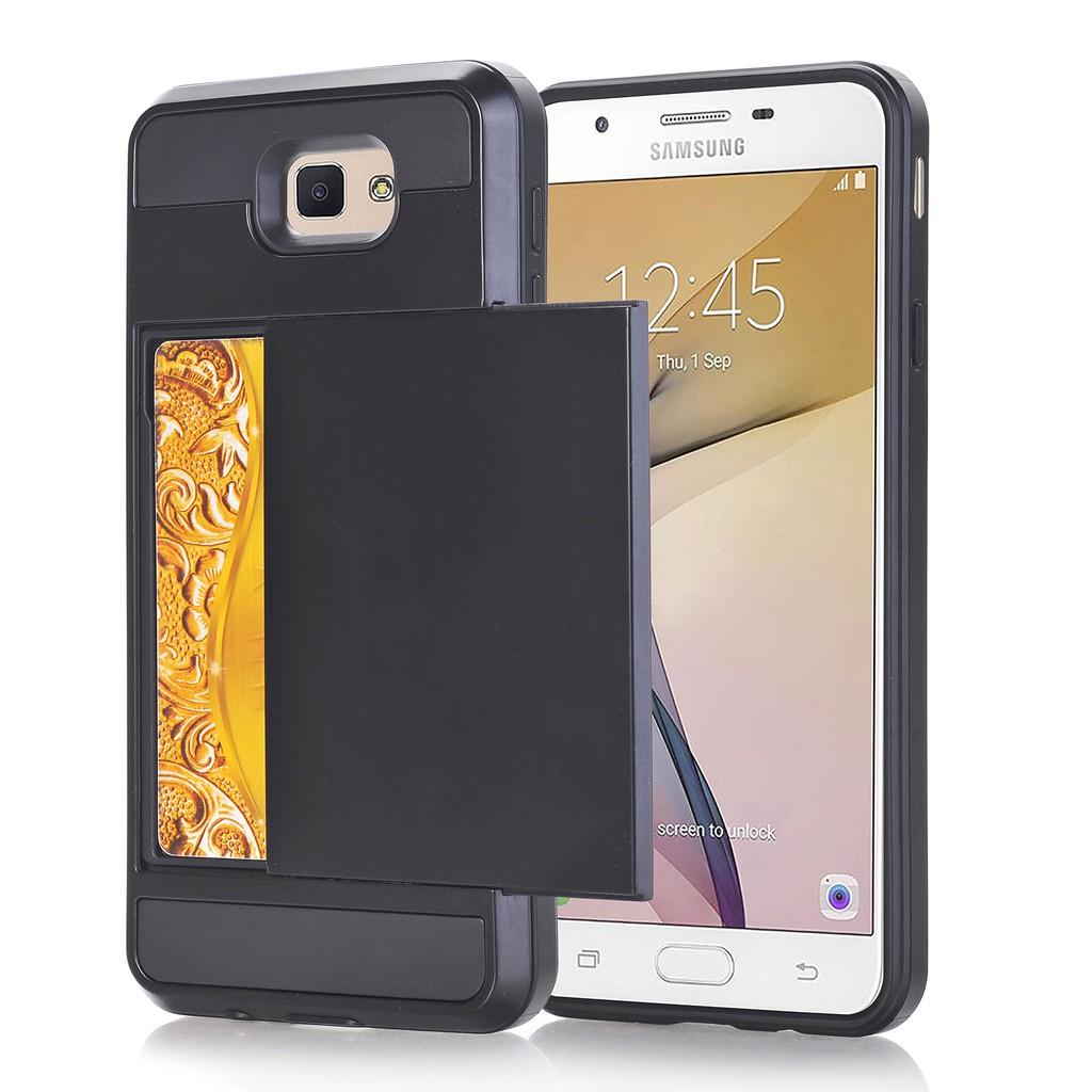 Ready Stock Samsung J5 Prime Hidden Card Slot Full Protection Hard Phone Case