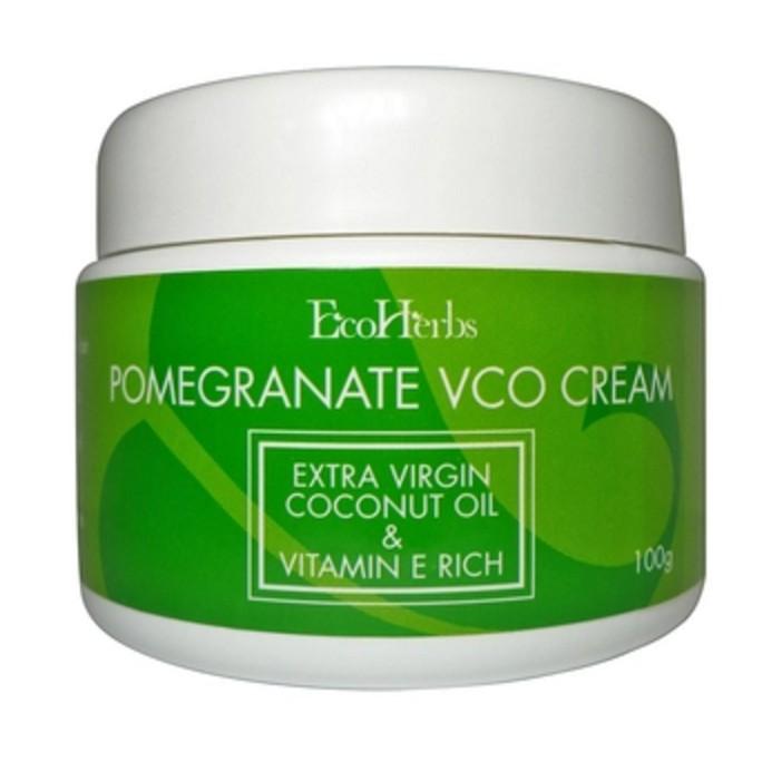 EcoHerbs Pomegranate Virgin Coconut Oil Cream untuk Rambut Gugur & Mencegah Kerosakan