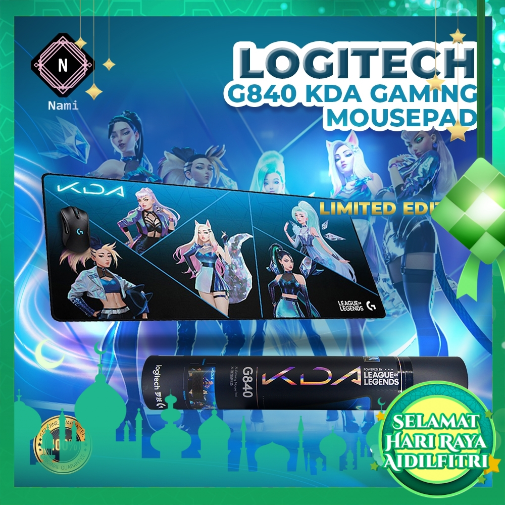 Logitech G840 KDA XL Mouse Pad 3mm Thin Stable Rubber Base League of Legends KDA Limited Edition