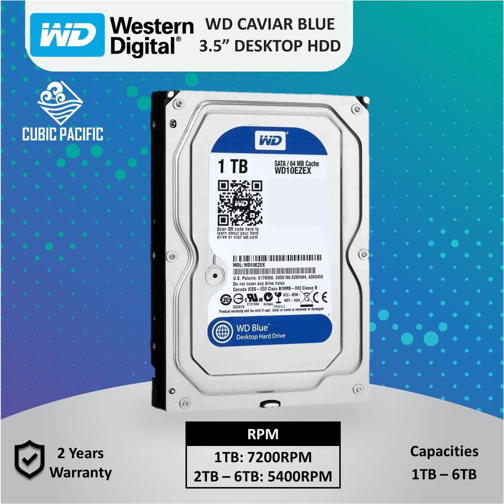 WD Caviar Blue 1TB/2TB/3TB/4TB/6TB 3 5