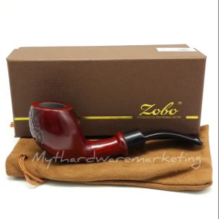 Zobo Red Sandalwood Smoking Tobacco Pipe With Filter Element