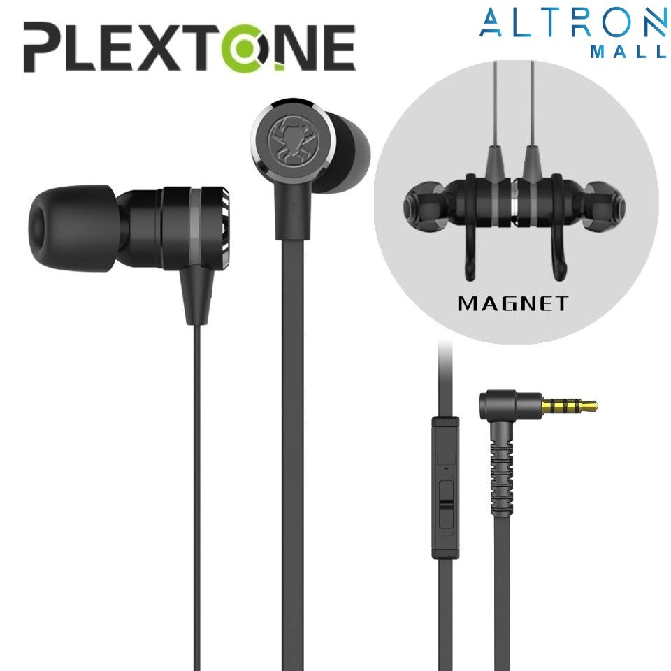 PLEXTONE G20 Double Bass Magnetic Gaming Earphone Headphone Earbuds Noise  Reduction Headset with Mic Sport PUBG