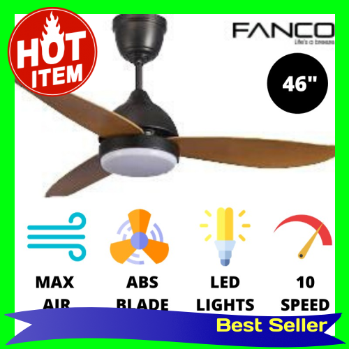 Fanco Arte Ceiling Fan Super High RPM Max Air Delivery with LED Lights (colour:Pine)