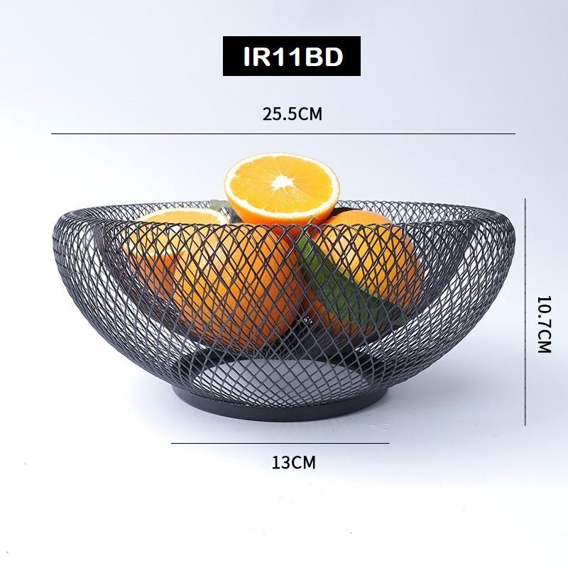 [ READY STOCK ]  Iron Creative Metal Bowl Tray Storage Basket Fruit Vegetable Wire Basket Kitchen Jualan Murah Simpanan