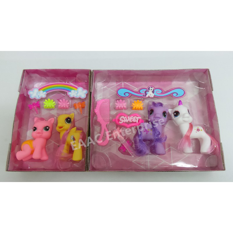 4 In 1 My Little My Pretty Horse Pony toys - Comb My Hair Poney