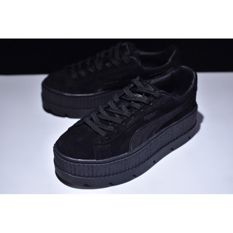 brand new 30f9d 0109c Puma Rihanna Women's Fenty Suede Cleated Creeper Patent Casual Shoes Black