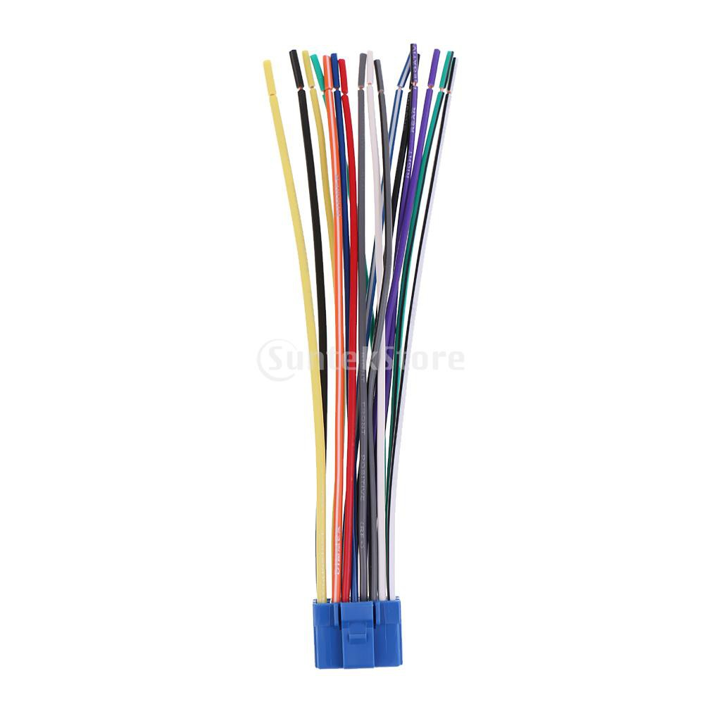 16 Pin Car Radio Stereo Speaker Wire Harness Plug For