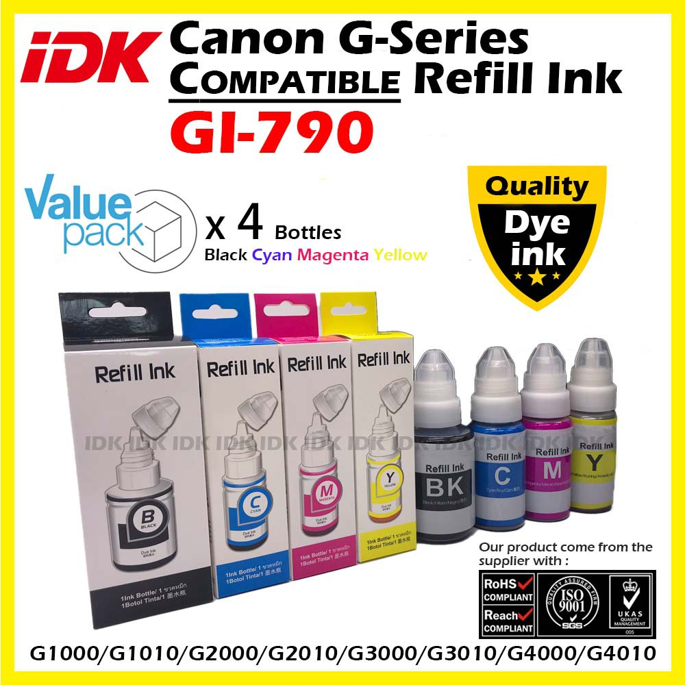 Canon Compatible GI-790 790 GI790 GI 790 G Series Refill ink (Dye ink)