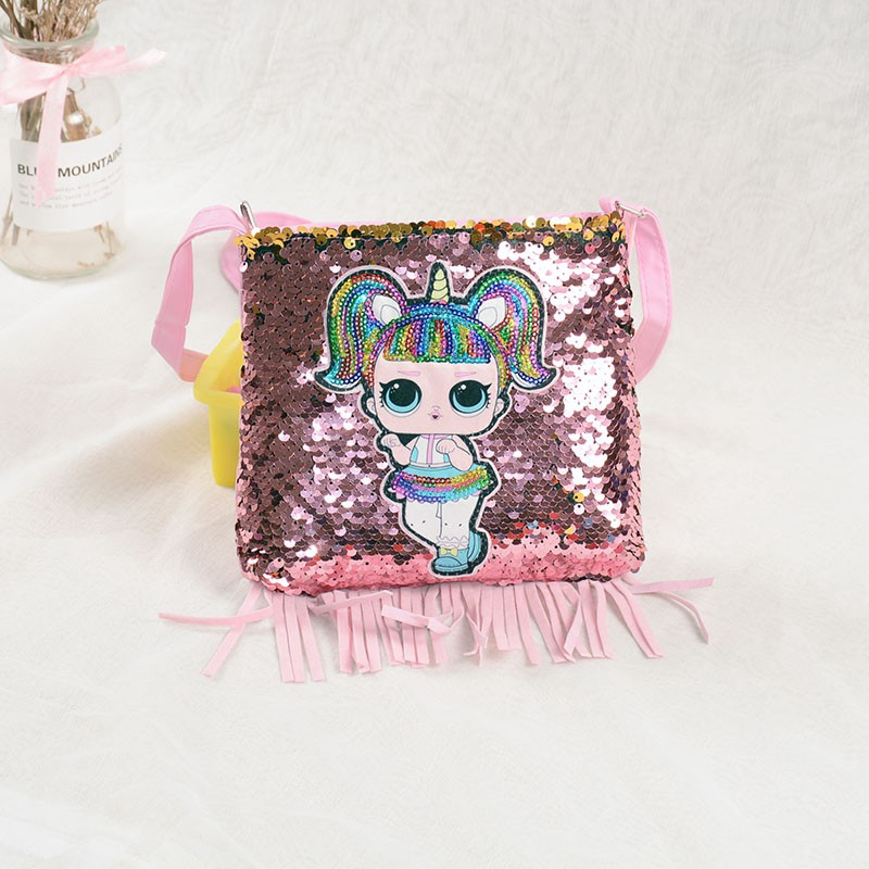 LOL doll baby purse handbag little girl sequin crossbody bags kid wallet Bag new