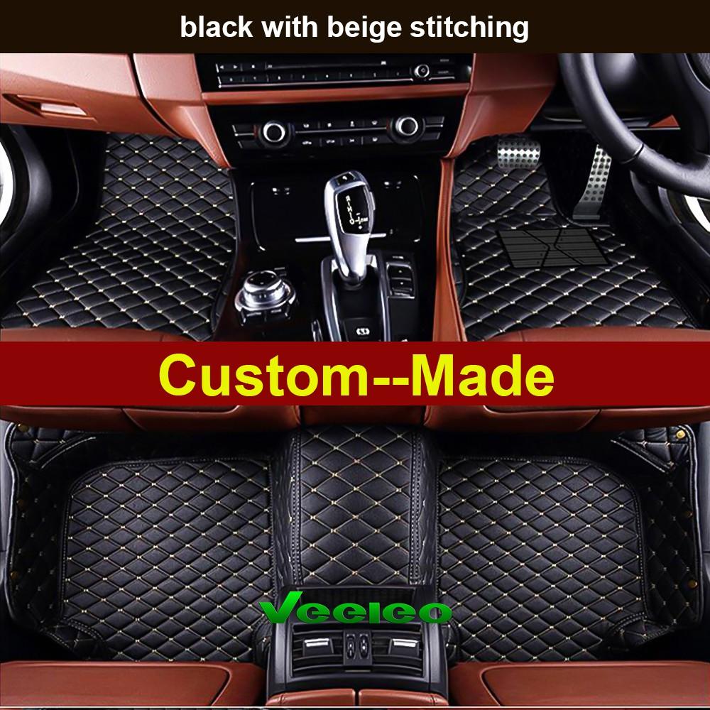 Custom Car Floor Mats for BMW M5 F10 2011-2017 Waterproof Non-Slip Leather Carpets Automotive Interior Accessories 1 Set Black