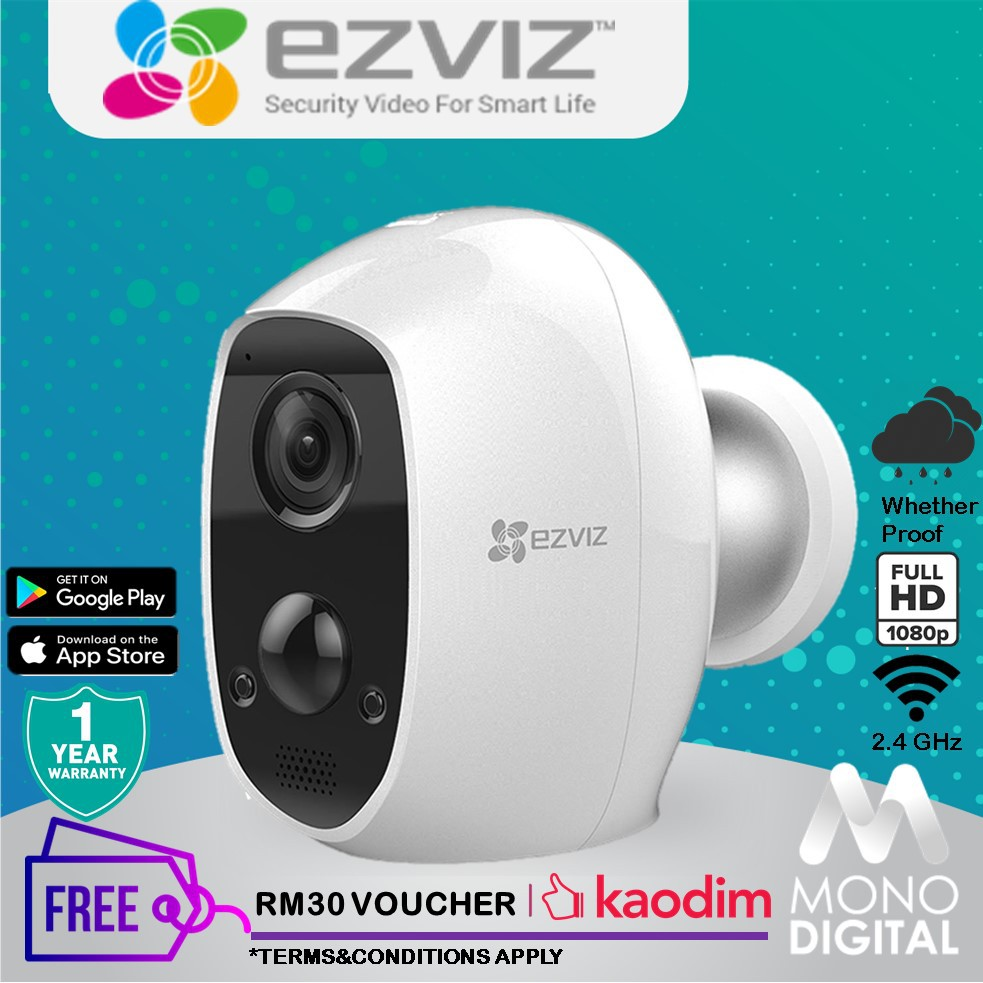 EZVIZ C3A 1080P Wire-Free Full HD build-in battery Smart Home Security  Whether Proof Camera (CS-C3A-A0-1C2WPMFBR)