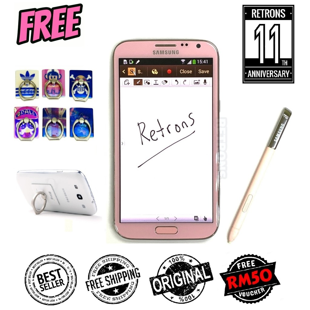 🇲🇾 Ori Samsung Galaxy Note 2 N7100 3G | N7105 4G LTE [16GB + 2GB RAM] 1 Month Warranty Premium Used Phone