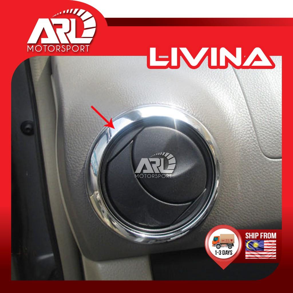 Nissan Grand Livina (LIVINA-L10) Aircond Air Cond Vent Cover Lining Chrome Garnish Car Auto Acccessories ARL Motorsport