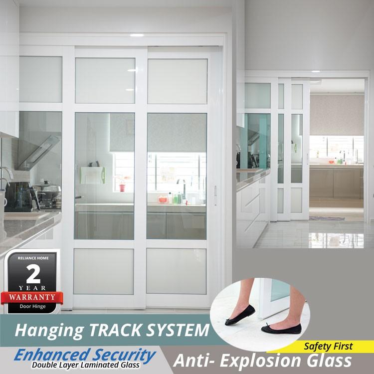 Pre Order Only Sliding Door Acrylic 3 Panel Kitchen Door Hanging Door Sliding Glass Door Pintu Gelongsor Toilet Door Shopee Malaysia