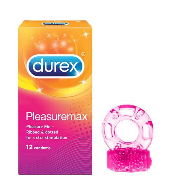 Durex Pleasuremax Condom + Vibrating Ring Set