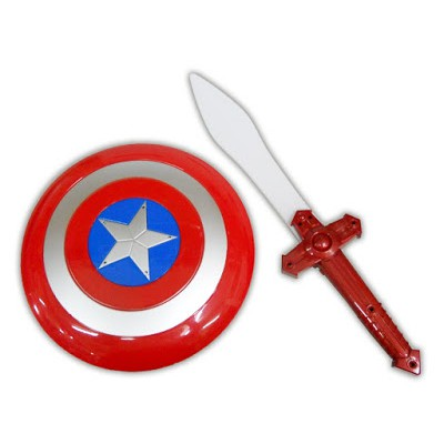 CAPTAIN AMERICA TOY SWORD AND SHIED SET - WITH LIGHT AND SOUND EFFECT!!
