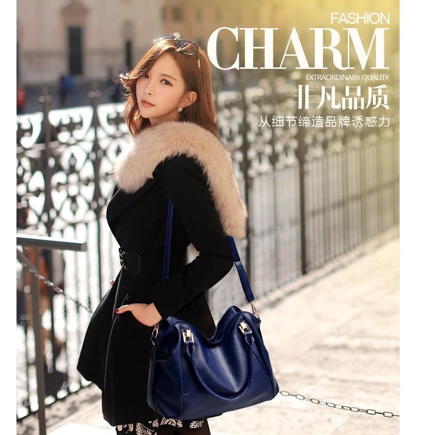Elegant Women Large Sling Bag Tote Bag Shoulder Bag( available 4 color) #Beg Wanita
