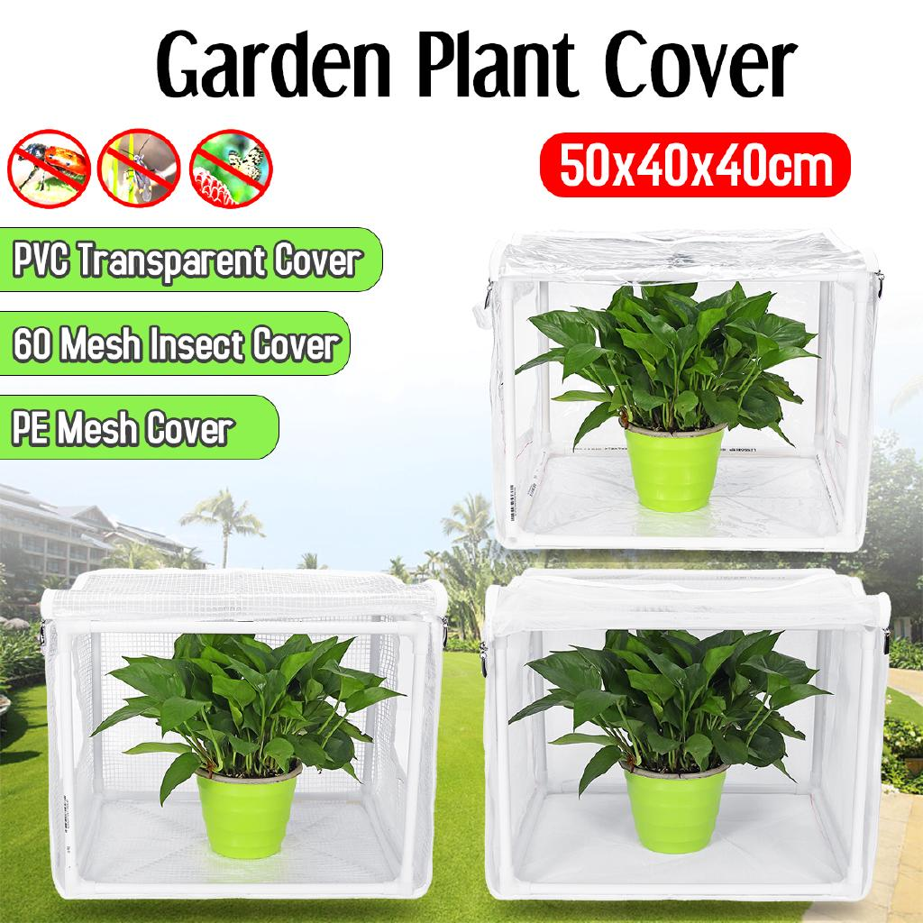 Mini Household Plant Greenhouse Cover PVC/PE/Mesh Plant Cover Warm Tier  Portable