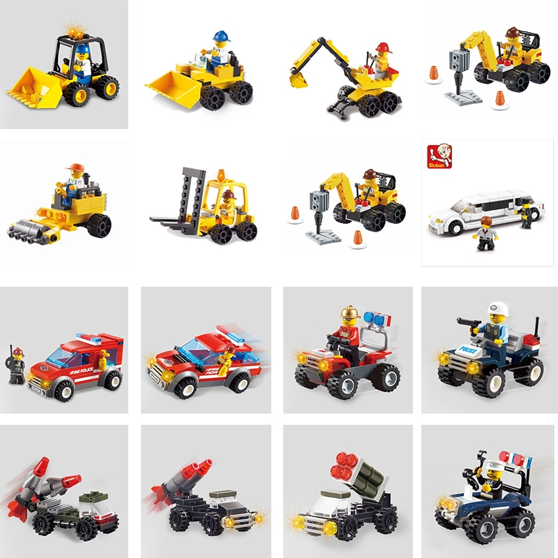 Compatible Lego City Special Series 6 IN 1 Set Building Blocks All 19 Patterns