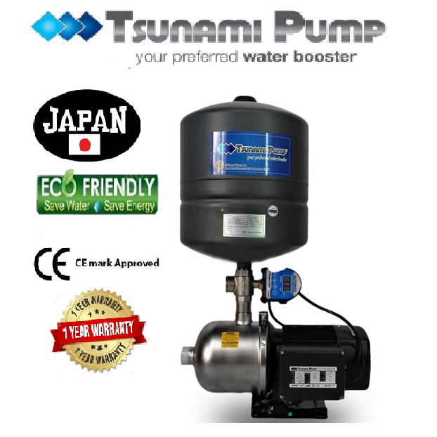 Tsunami CMF4-40-IPT Food Grade Stainless Steel Casing Home Auto Booster Pressure Water Pump【1 Year Warranty】