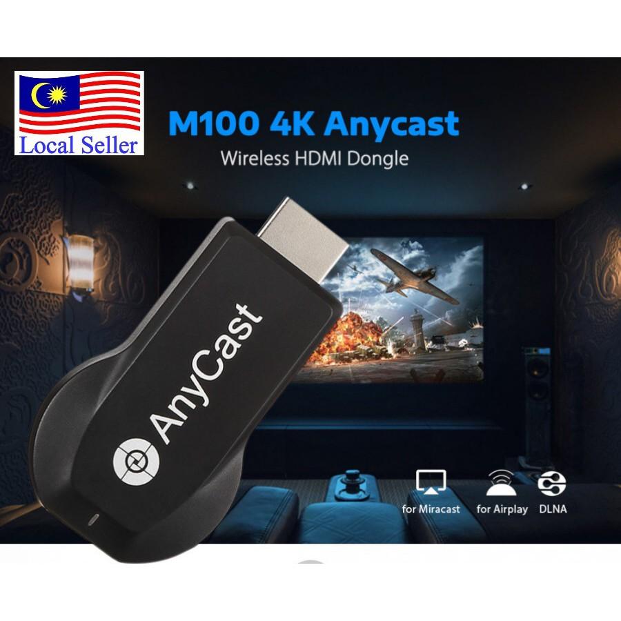 Anycast M100 4K Wireless HDMI Receiver Work with Miracast DLNA