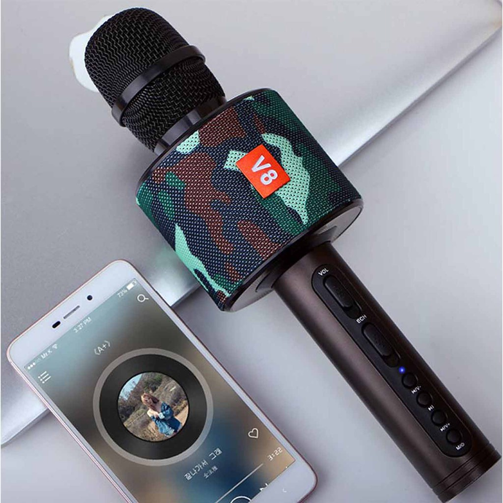 V8 PROTABLE BLUETOOTH MICROPHONE FOR HOME KARAOKE COMPETITION