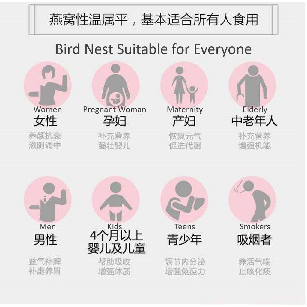 [Authentic] Premium Sandakan Bird Nest (100% Natural) |100% 纯天然燕窝 / 燕盏 {小盏,中盏,大盏}