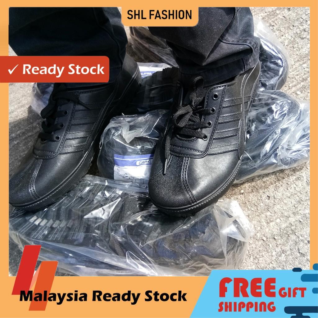 Adidas Kampung Gajah Kasut Getah Cap Gajah Kerja Lasak Hiking Rubber with Lace shoes(White) 299