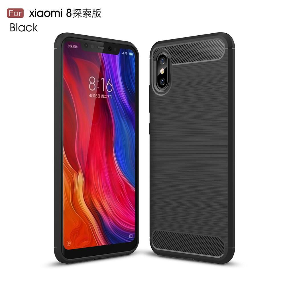 เคสโทรศัพท์คาร์บอนไฟเบอร์แบบนิ่ม Xiaomi Mi 8 pexer Case