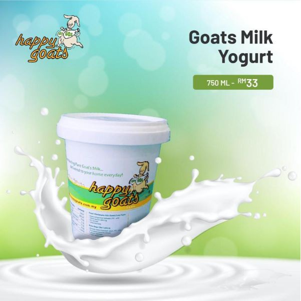 Happy Goats Goat's Milk Yogurt, 750ml (Penang Only)