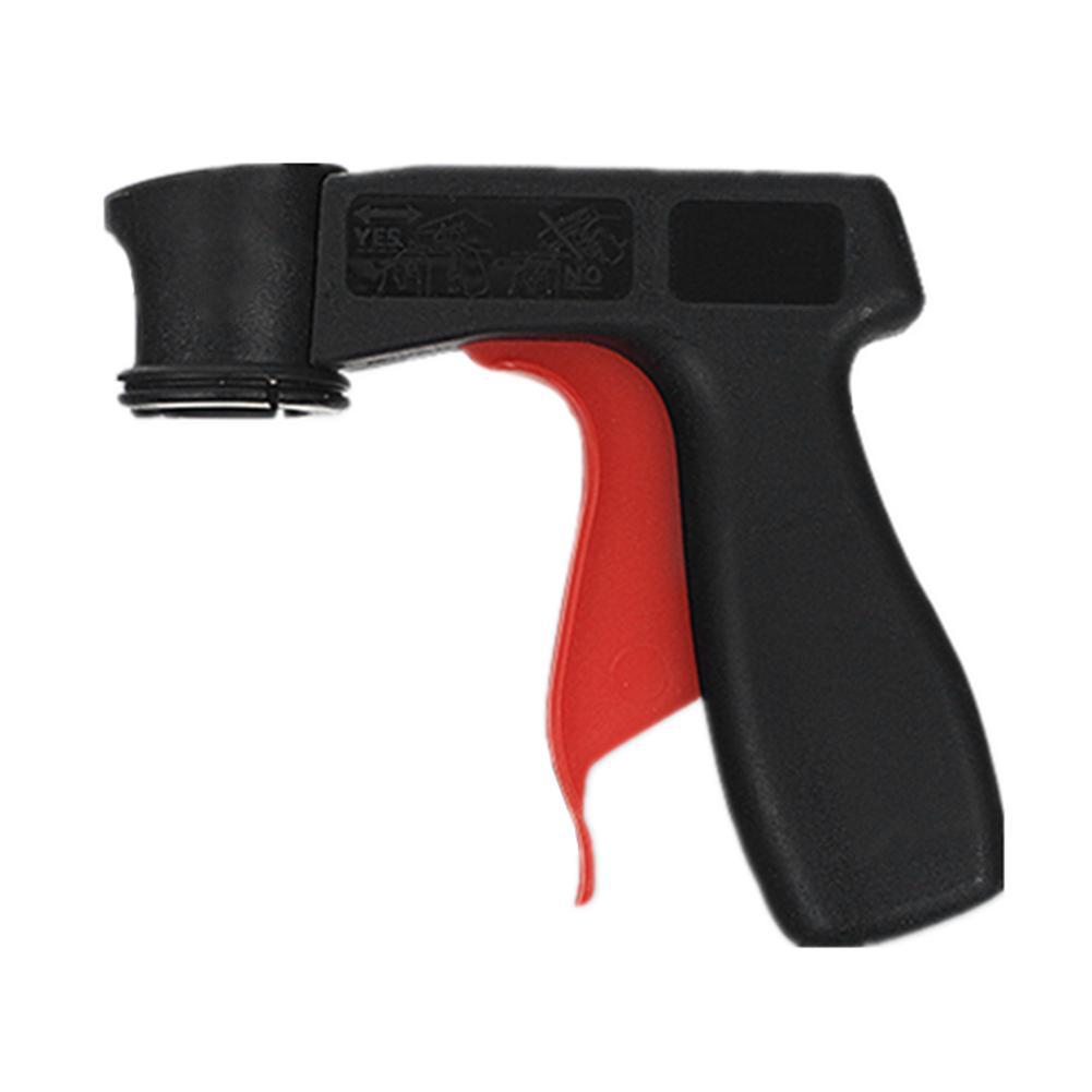 Spray Adapter Car Paint Care Aerosol Spray Gun Handle With Full Grip Trigger Locking Collar Black Auto Wash Maintenance Tools Car Wash & Maintenance Paint Guns