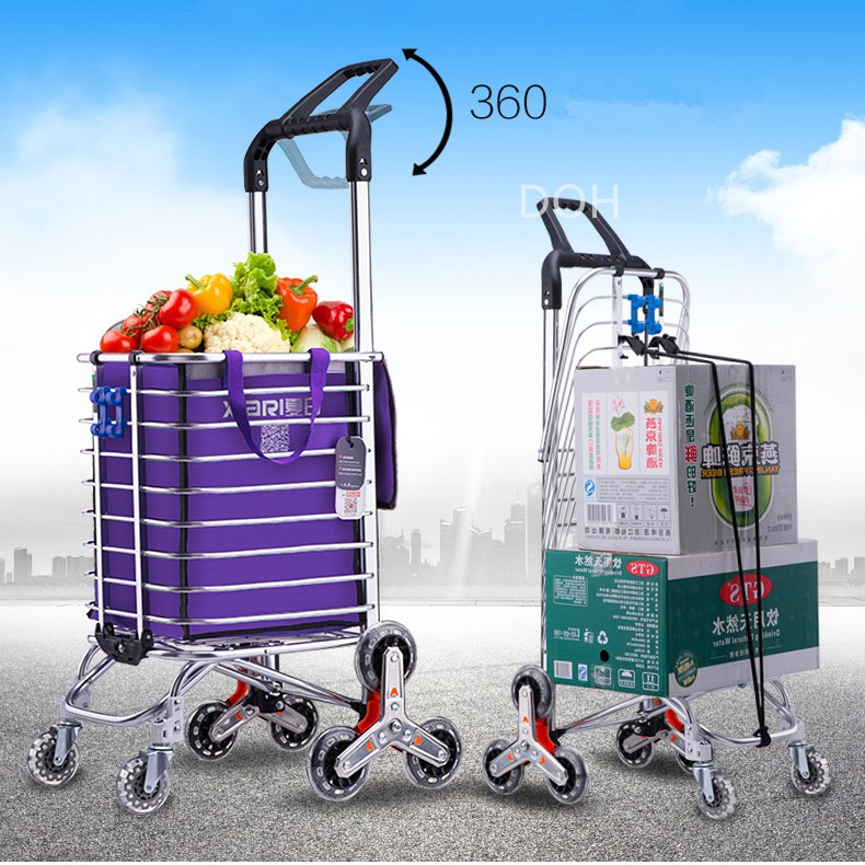 6136f8f7a130 Climb Stairs Trolly Pulling Trolley Shopping Cart Grocery Storage Hand  Trolley