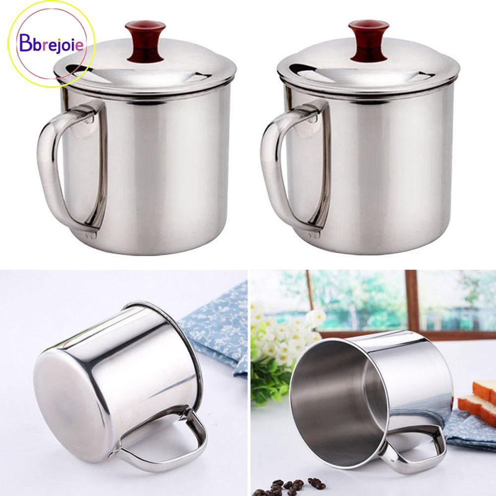 Coffee Tea 200/380ML Silver Camping Outdoor Drinking Cup Hot Useful