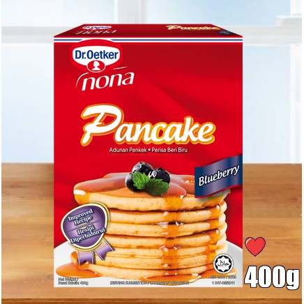 Dr.Oetker Nona Pancake - Blueberry Flavour @ 400g ( Free Fragile + Bubblewrap Packing )