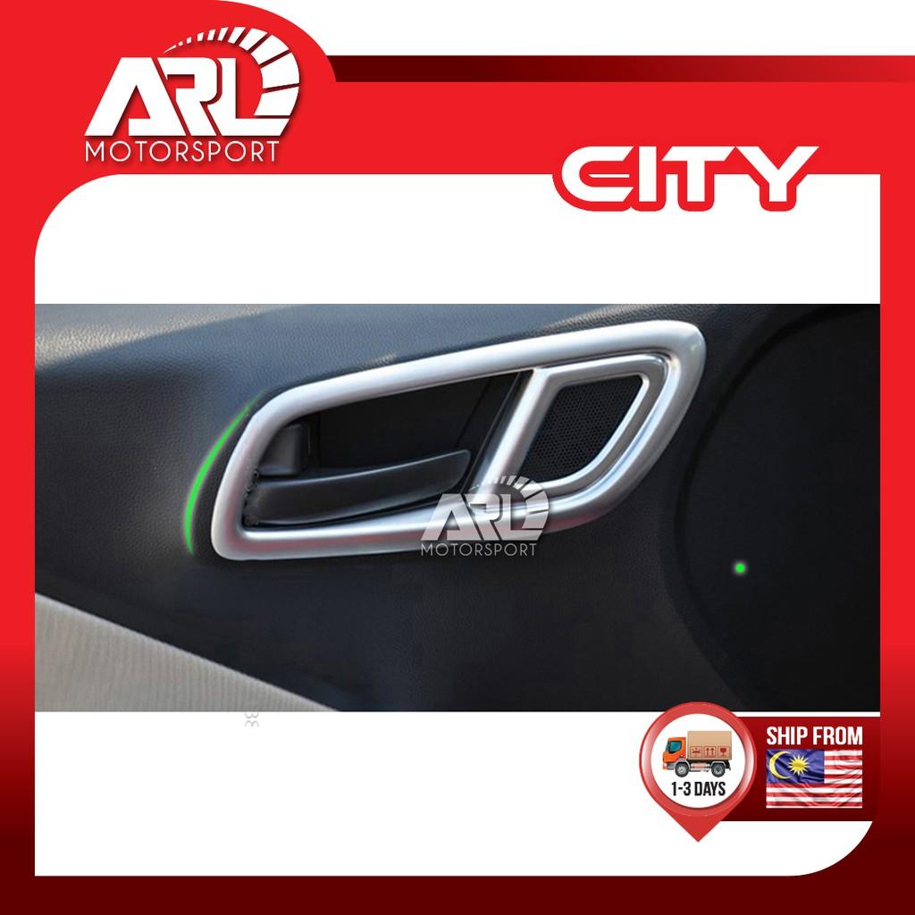 Honda City (2014-2020) GM6 Door Inner Handle Cover Ring Silver Car Auto Acccessories ARL Motorsport