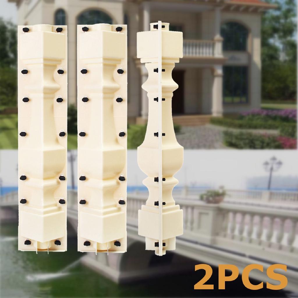 2 Piece 70cm Roman Concrete Plaster Cement Casting Moulds Balustrades Mold DIY !