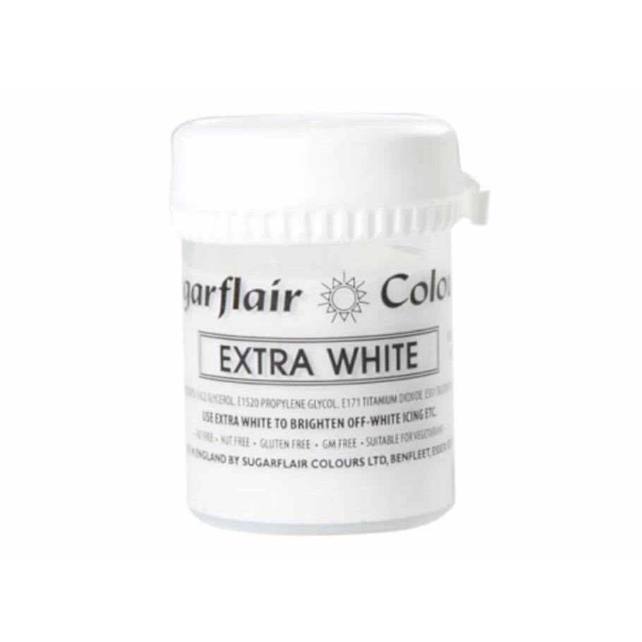 Sugarflair, Concentrated Paste Colours, Pastel, Extra White, 50 gram