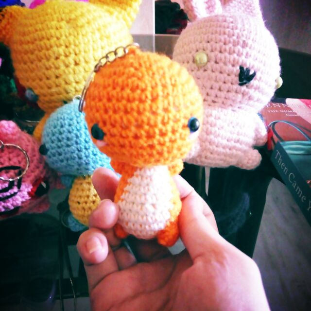 Pokemon Go Tokepi Keyring Keychain Pokémon cute crochet handmade ... | 640x640