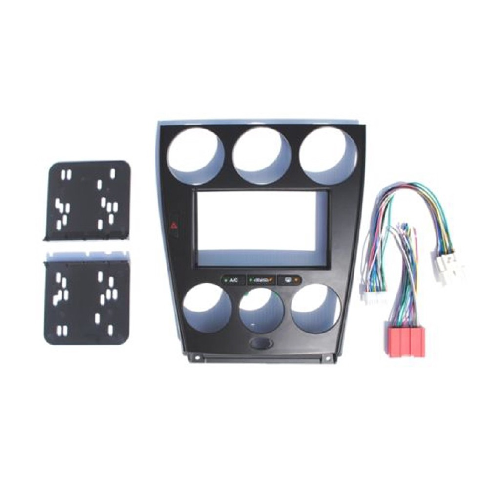 Mazda 6 Black Double Din Dash Kit Radio Stereo Wiring Harness on double din bracket, double din cover, double din radio, double din trim ring, double din dash panel,
